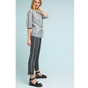 Chino by Anthropologie Tuxedo Stripe Pant 27 Gray